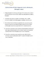 A követeléskezelő által a fogyasztó részére alkalmazott költségek és díjak