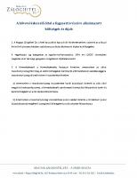 A követeléskezelő által a fogyasztó részére alkalmazott kötlségek és díjak